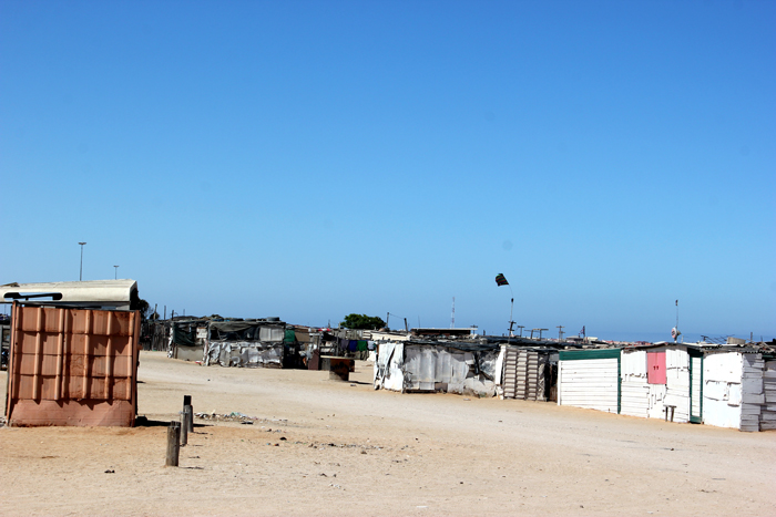 <p>Shantytown in Henties Bay, Namibia</p>